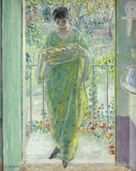 The Kitchen Door painting reproduction, Frederick Carl Frieseke