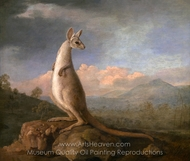 The Kongouro from New Holland (Kangaroo) painting reproduction, George Stubbs