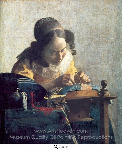 Jan Vermeer, The Lacemaker oil painting reproduction