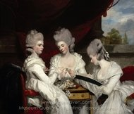 The Ladies Waldegrave painting reproduction, Sir Joshua Reynolds