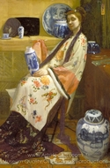 The Lady of the Lang Lijsen painting reproduction, James McNeill Whistler