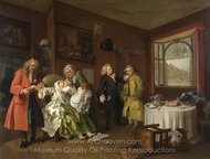 The Lady's Death painting reproduction, William Hogarth