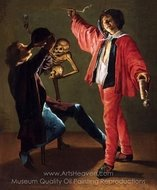 The Last Drop (The Gay Cavalier) painting reproduction, Judith Leyster