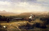 The Last of the Buffalo painting reproduction, Albert Bierstadt