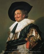 The Laughing Cavalier painting reproduction, Frans Hals