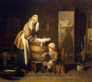 The Laundress painting reproduction, Jean Simeon Chardin