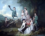 The Lavie Children painting reproduction, Johann Zoffany