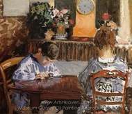 The Lesson painting reproduction, Alfred Sisley