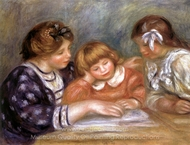 The Lesson painting reproduction, Pierre-Auguste Renoir