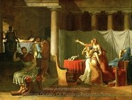 The Lictors Bringing Brutus the Bodies of His Sons painting reproduction, Jacques-Louis David