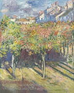 The Lindens of Poissy painting reproduction, Claude Monet