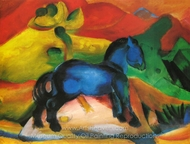 The Little Blue Horse painting reproduction, Franz Marc