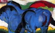 The Little Blue Horses painting reproduction, Franz Marc
