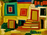 The Little Bright House, Landscape painting reproduction, Amadeo De Souza-Cardoso