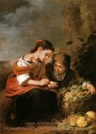 The Little Fruit Seller painting reproduction, Bartolome Esteban Murillo