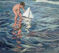 The Little Sailing Boat painting reproduction, Joaquin Sorolla