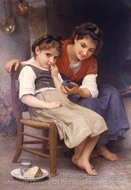 The Little Sulk (Petite Boudeuse) painting reproduction, William A. Bouguereau