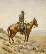The Lookout painting reproduction, Frederic Remington