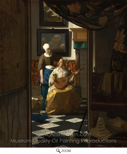 Jan Vermeer, The Love Letter oil painting reproduction