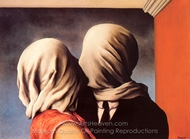 The Lovers painting reproduction, Rene Magritte (inspired by)