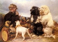 The Lucky Dogs painting reproduction, Richard Ansdell