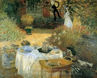 The Luncheon painting reproduction, Claude Monet