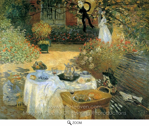 Claude Monet, The Luncheon oil painting reproduction