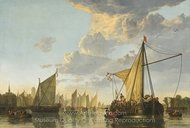 The Maas at Dordrecht painting reproduction, Aelbert Cuyp