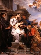 The Madonna and Child Enthroned with Saints Rosalia, Peter and Paul painting reproduction, Sir Anthony Van Dyck