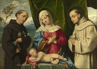 The Madonna and Child with Saints painting reproduction, Italian Painter