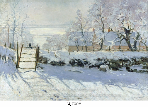 Claude Monet, The Magpie oil painting reproduction