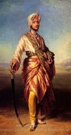 The Maharajah Duleep Singh painting reproduction, Franz Xavier Winterhalter