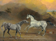 The Malcolm Arabian painting reproduction, Benjamin Marshall