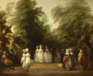 The Mall in St. James's Park painting reproduction, Thomas Gainsborough