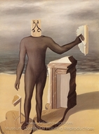 The Man of the Sea painting reproduction, Rene Magritte (inspired by)