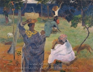 The Mango Trees, Martinique painting reproduction, Paul Gauguin