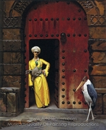The Marabou (At the Door of His House) painting reproduction, Jean-Leon Gerome