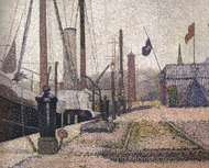 The Maria at Honfleur painting reproduction, Georges Seurat
