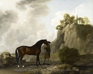 The Marquess of Rockingham's Arabian Stallion painting reproduction, George Stubbs