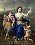 The Marquise de Seignelay and Two of Her Sons painting reproduction, Pierre Mignard