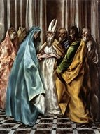 The Marriage of the Virgin painting reproduction, El Greco