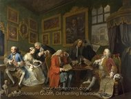 The Marriage Settlement painting reproduction, William Hogarth