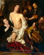 The Martyrdom of Saint Lawrence painting reproduction, Salomon De Bray