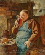 The Master Brewer painting reproduction, Eduard Von Grutzner