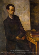 The Mathematician painting reproduction, Diego Rivera