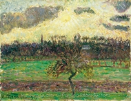 The Meadows at Eragny, Apple painting reproduction, Camille Pissarro