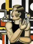The Mechanic painting reproduction, Fernand Leger