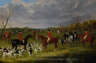 The Meet of the East Suffolk Hounds at Chippenham Park painting reproduction, John Frederick Herring Sr.
