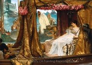 The Meeting of Antony and Cleopatra painting reproduction, Sir Lawrence Alma-Tadema