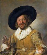 The Merry Drinker painting reproduction, Frans Hals